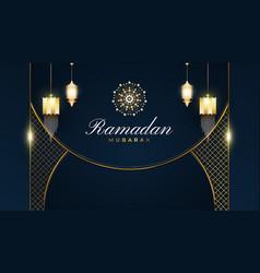 Luxurious ramadan kareem background vector