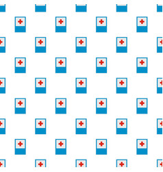 Medical red cross pattern seamless vector