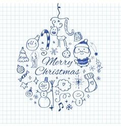 Merry christmas post card template vector