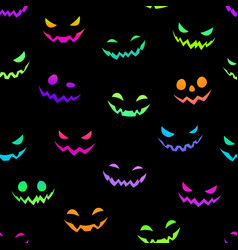 multicolored bright faces for halloween vector image