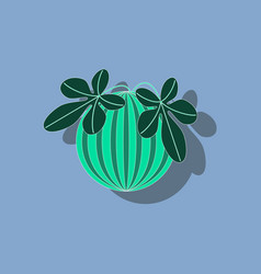 Paper sticker on stylish background plant vector