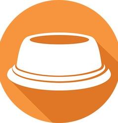 Pet Food Bowl Icon vector image