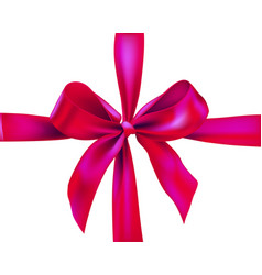 pink holiday ribbon vector image