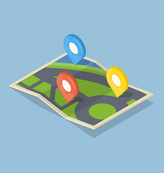 pointers on map gps navigation concept icon vector image