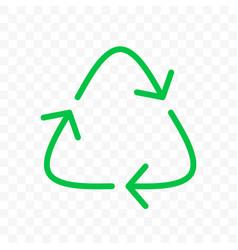 recycling arrows circle icon eco waste bin sign vector image