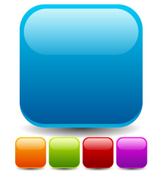 round squares with empty space set of five colors vector image