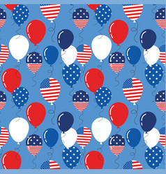 seamless pattern with patriotic balloons vector image