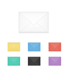 Set of isolated closed colored white vector
