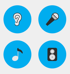 Set of simple sound icons elements listen speaker vector