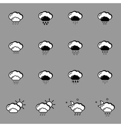 set with weather icons vector image