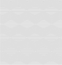 Slim gray triangle spirals forming cubes vector image