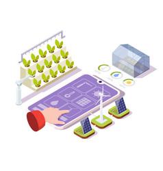 Smart farming isometric vector