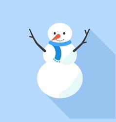 snow man icon flat style vector image