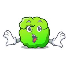 Surprised shrub mascot cartoon style vector