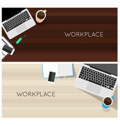 Top view laptop computer vector