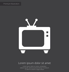 Tv premium icon vector