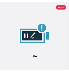 two color low icon from user interface concept vector image