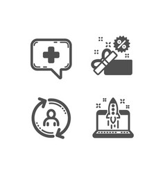User info sale and medical chat icons start vector