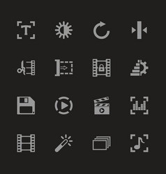 Video editing - flat icons vector