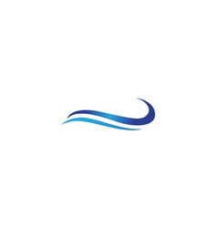 water wave symbol and icon logos vector image