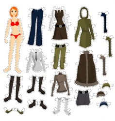 wear to doll vector image