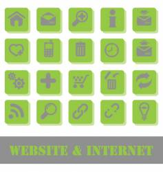 web icons green vector image