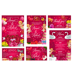 wedding ceremony invitation rsvp card vector image