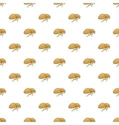 Flea pattern cartoon style vector