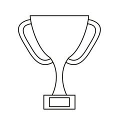 trophy award sport win sport outline vector image vector image