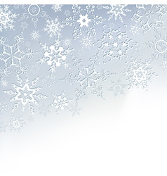 Winter stylish background with snowflakes vector image vector image