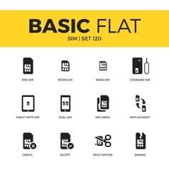 Basic set of sim icons vector
