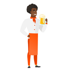 chef cook drinking beer vector image