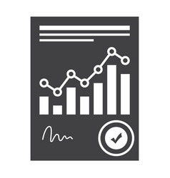 financial statement concept vector image