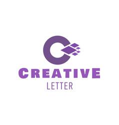 letter c symbol logo design for creative vector image vector image