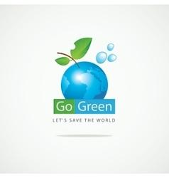 Planet Earth Go Green vector image vector image
