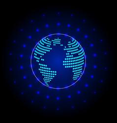 global communication futuristic vector image
