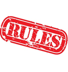 Rules grunge rubber stamp vector