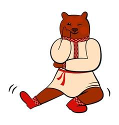 russian bear vector image