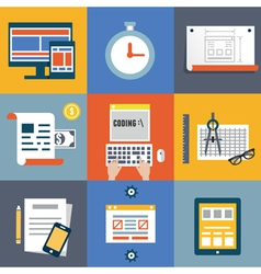 Web coding and programming user interface elements vector image vector image