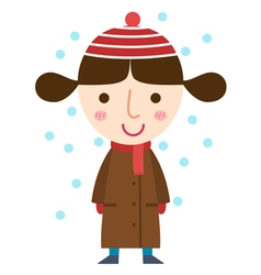 winter girl vector image vector image