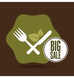 big sale restaurant vegan food healthy vector image
