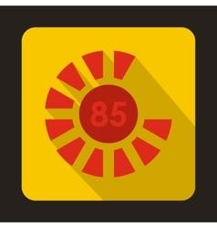 Circle loading 85 percent icon flat style vector image