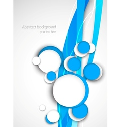 Circles on blue waves vector image vector image