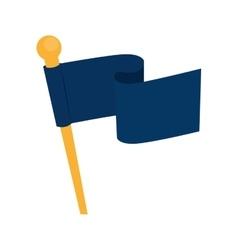 Flag waving symbol icon graphic vector