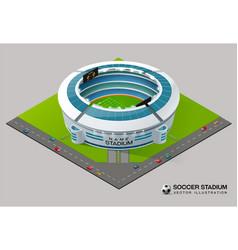 football soccer field stadium isometric vector image