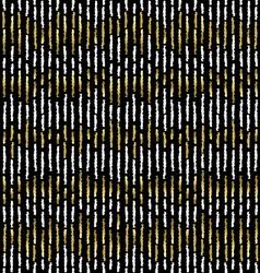 Grunge gold stripe seamless pattern vector image