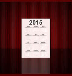 3D paper calendar 2015 year vector image