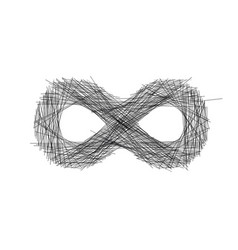 abstract hand drawn sketch lines infinity sign vector image