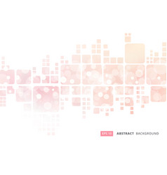 Abstract white geometric square border on pink vector