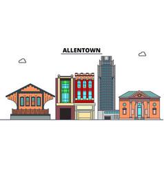 Allentown united states flat landmarks vector